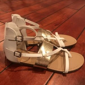 Shoe Dazzle White Sandals